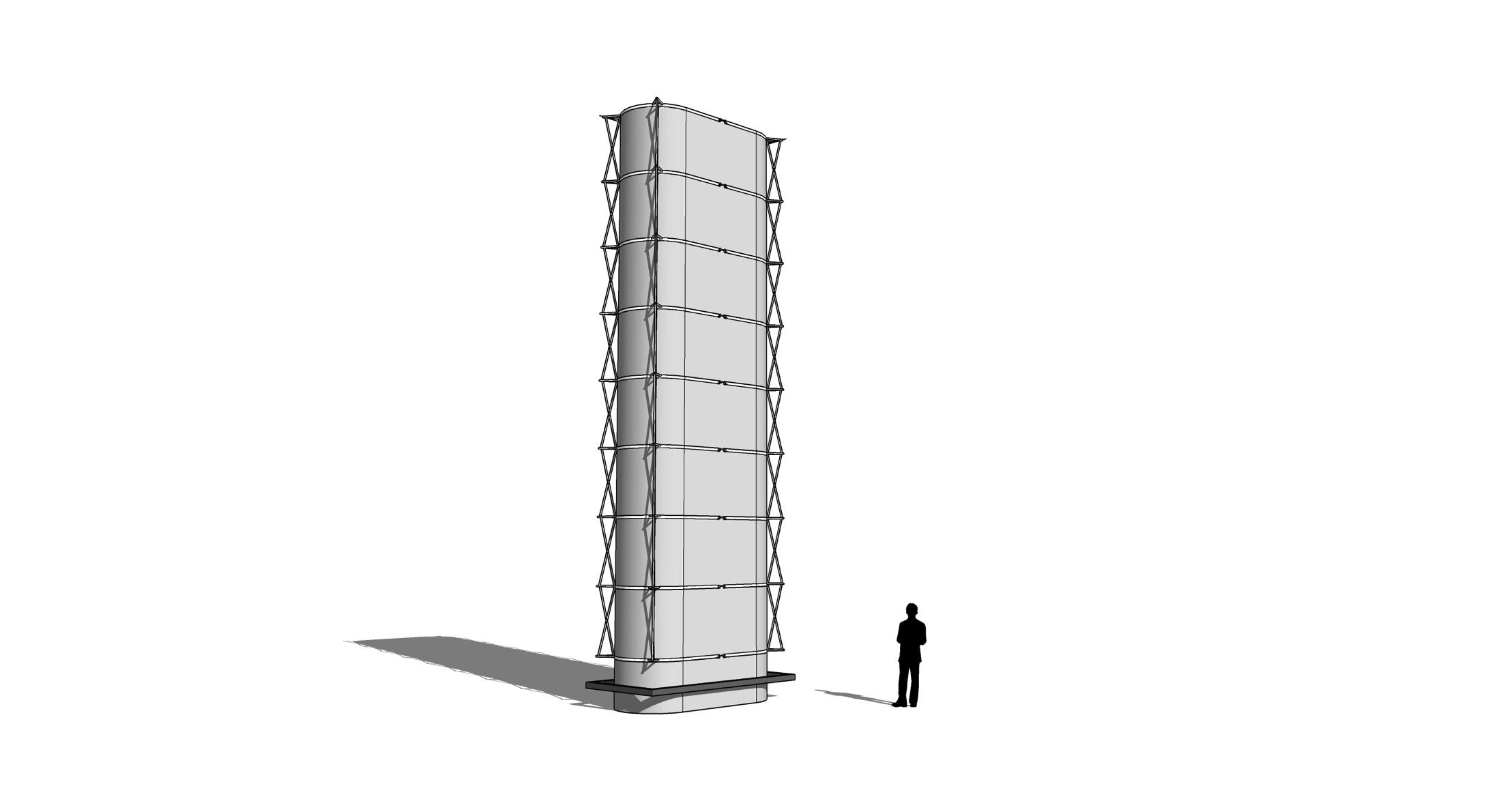 Estructura Base fijada sin perforaciones
